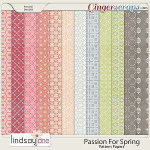 Passion For Spring Pattern Papers by Lindsay Jane