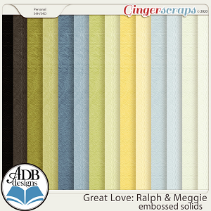 Great Love: Ralph & Meggie Embossed Solids by ADB Designs
