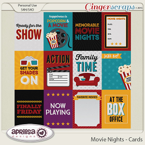 Movie Nights - Cards