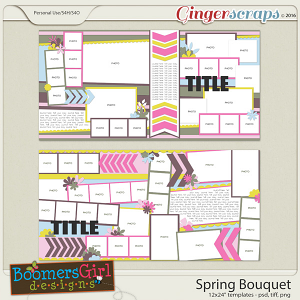 Spring Bouquet Template Pack by BoomersGirl Designs