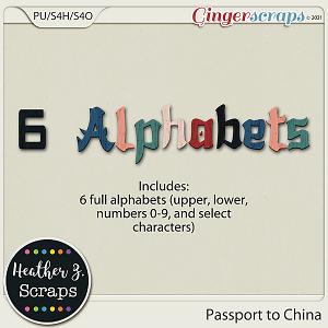 Passport to China ALPHABETS by Heather Z Scraps