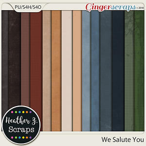 We Salute You SOLIDS by Heather Z Scraps