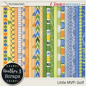 Little MVP: Golf PAPERS by Heather Z Scraps