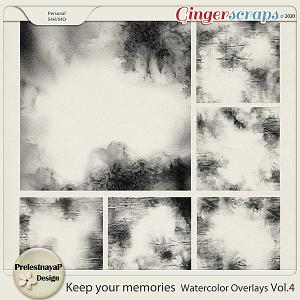 Keep your memories Watercolor Overlays Vol.4