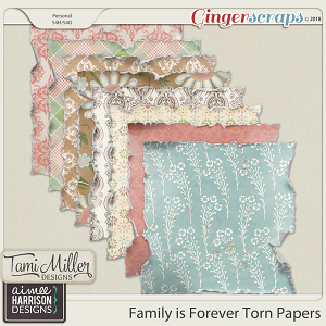 Family is Forever Tattered Papers