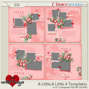 A Little A Little 4 Templates by CarolW Designs