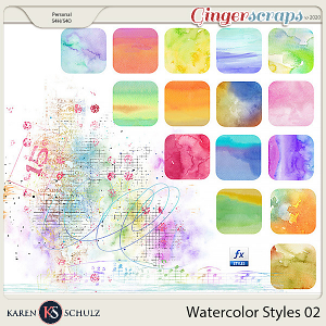 Watercolor Styles 02 by Karen Schulz