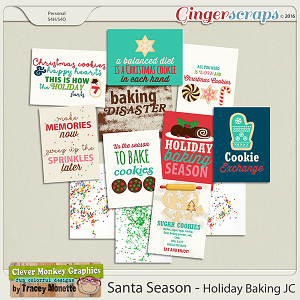 Santa Season Holiday Baking Journal Cards by Clever Monkey Graphics