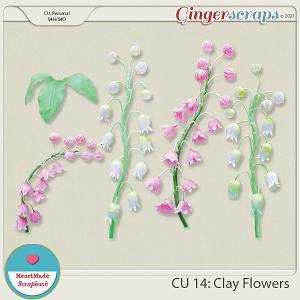 CU 14 - Clay flowers