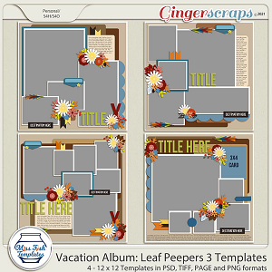 Vacation Album: Leaf Peepers 3 Templates by Miss Fish