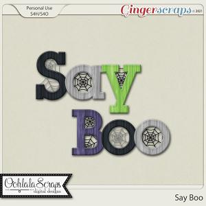 Say Boo Alphabets