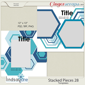 Stacked Pieces 28 Templates by Lindsay Jane