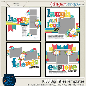 KISS- Big Title Templates by Miss Fish