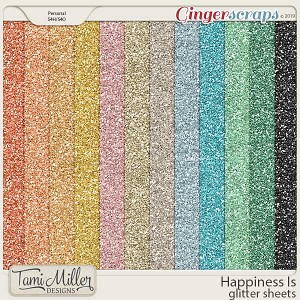 Happiness Is Glitter Sheets by Tami Miller Designs