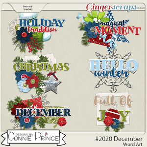 #2020 December - Word Art Pack by Connie Prince