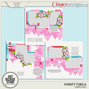 Pointy Toes 6 Templates by JB Studio