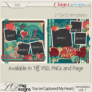 You've Captured My Heart: Templates Vol. 1 by LDragDesigns