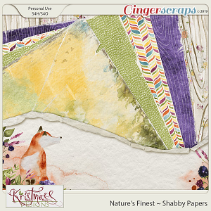 Nature's Finest Shabby Papers