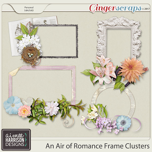 An Air of Romance Frame Clusters by Aimee Harrison