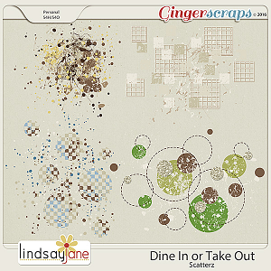 Dine In or Take Out Scatterz by Lindsay Jane