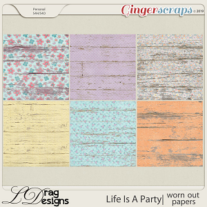 Life Is A Party: Worn Out Papers by LDragDesigns