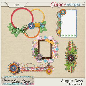 August Days Cluster Pack from Designs by Lisa Minor