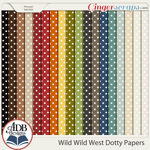 Wild Wild West Dotty Papers by ADB Designs