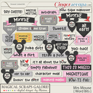 Mrs Mouse (word bits)