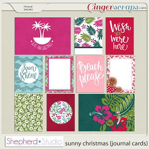 Sunny Christmas Journal Cards for Pocket Scrapbooking by Shepherd Studio
