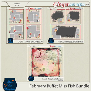 Miss Fish February 2021 Buffet Bundle - KISS