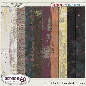 Cat-titude - Painted Papers y Aprilisa Designs