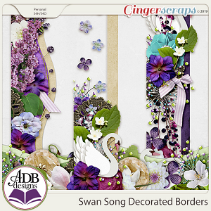Swan Song Decorated Borders by ADB Designs