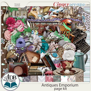 Antiques Emporium Page Kit by ADB Designs