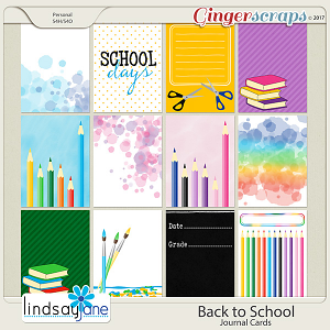 Back to School Journal Cards by Lindsay Jane