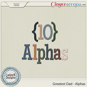 Greatest Dad - Alphas by CathyK Designs