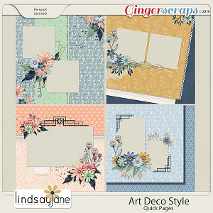 Art Deco Style Quick Pages by Lindsay Jane