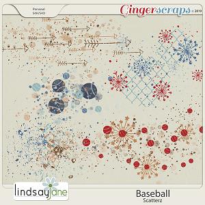 Baseball Scatterz by Lindsay Jane