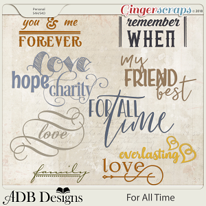 For All Time Word Art and Brushes by ADB Designs
