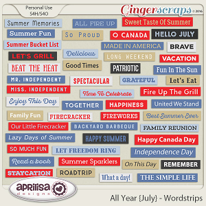 All Year {July} - Wordstrips