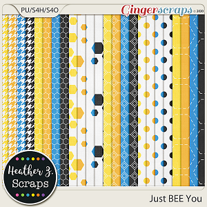 Just BEE You EXTRA PAPERS by Heather Z Scraps