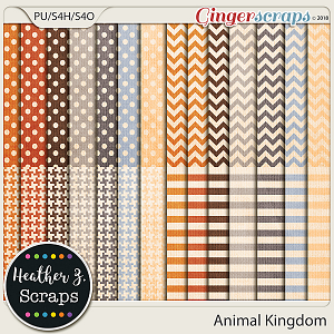 Animal Kingdom EXTRA PAPERS by Heather Z Scraps