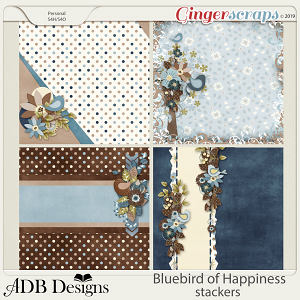 Bluebird of Happiness Stackers by ADB Designs