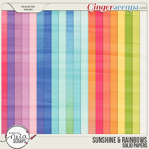 Sunshine & Rainbows - Solid Papers - by Neia Scraps