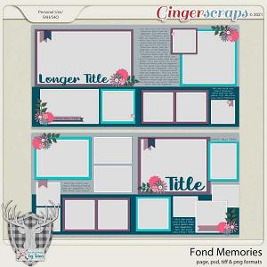 Fond Memories by Dear Friends Designs by Trina