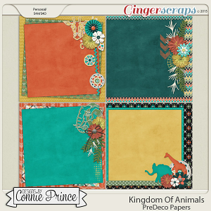 Kingdom Of Animals - PreDeco Papers