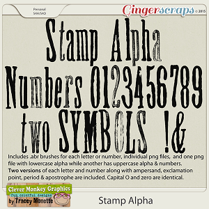 Stamp Alpha by Clever Monkey Graphics