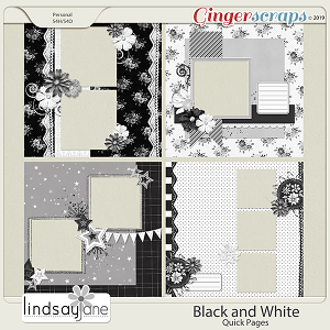 Black and White Quick Pages by Lindsay Jane