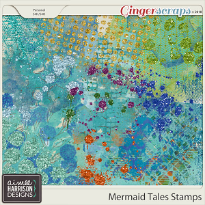 Mermaid Tales Stamps by Aimee Harrison