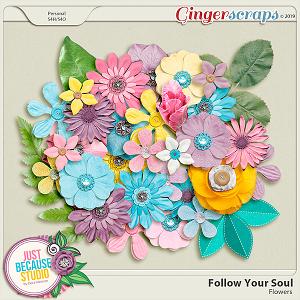 Follow Your Soul Flowers by JB Studio