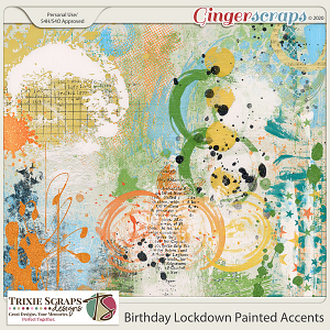 Birthday Lockdown Painted Accents by Trixie Scraps Designs